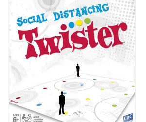 Social Distancing Twister – being legally required to stay at least 6 feet apart has never been so much fun!