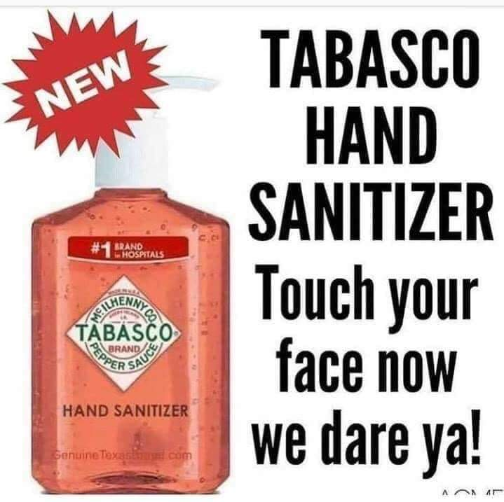 tabasco hand sanitizer