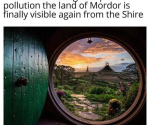 Thanks To The Huge Drop In Air Pollution Mordor Is Visible Again From The Shire – Meme