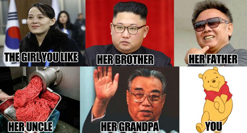 the girl you like kim yo jong meme