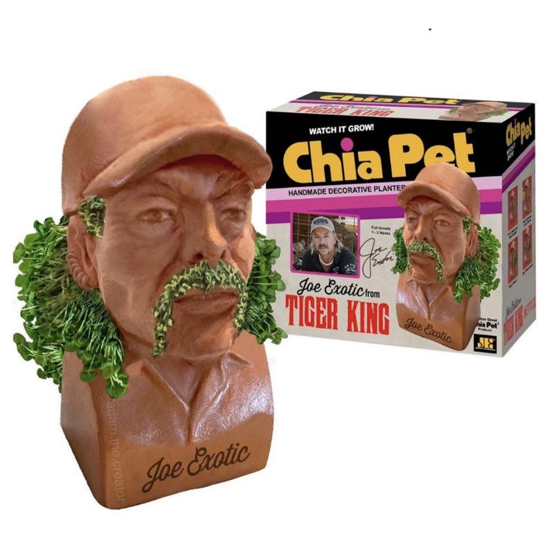tiger king chia pet
