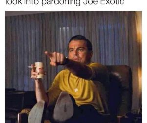 When The President Says He Will Look Into Pardoning Joe Exotic – Meme