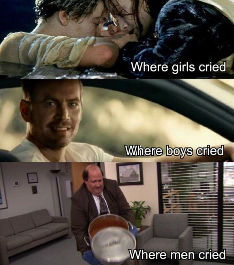 where girls cried where boys cried where men cried
