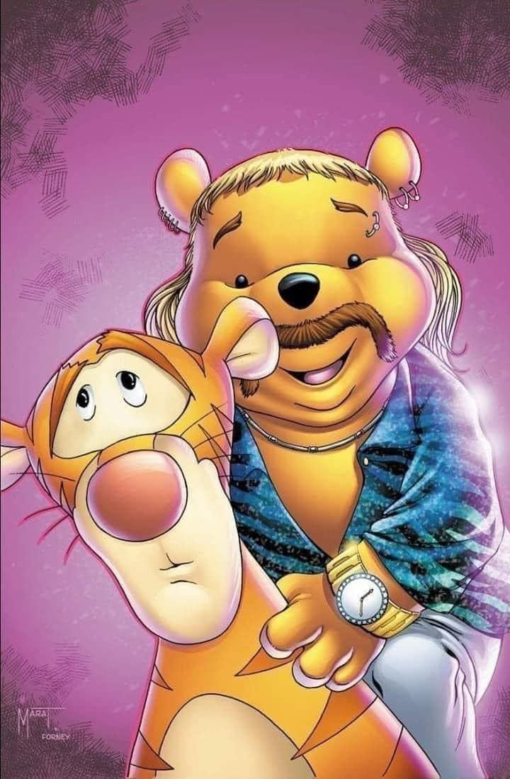 winnie the pooh tiger king meme