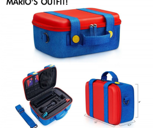 This Mario's Outfit Nintendo Switch Case makes me want to buy it even if I don't have a Nintendo Switch! – You can also get this in Luigi!