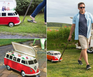 Rolling Vintage Volkswagen Bus Cooler! – Roll into your next backyard BBQ with the coolest cooler in town!