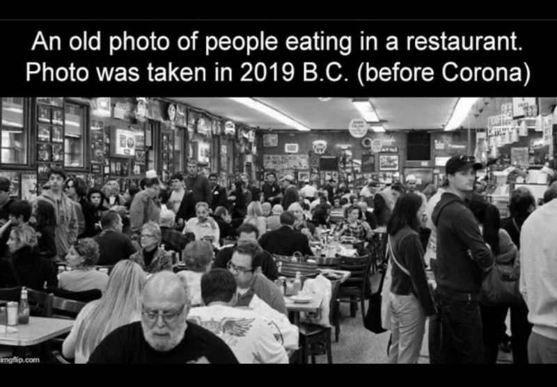 a photo of people eating in a restaurant