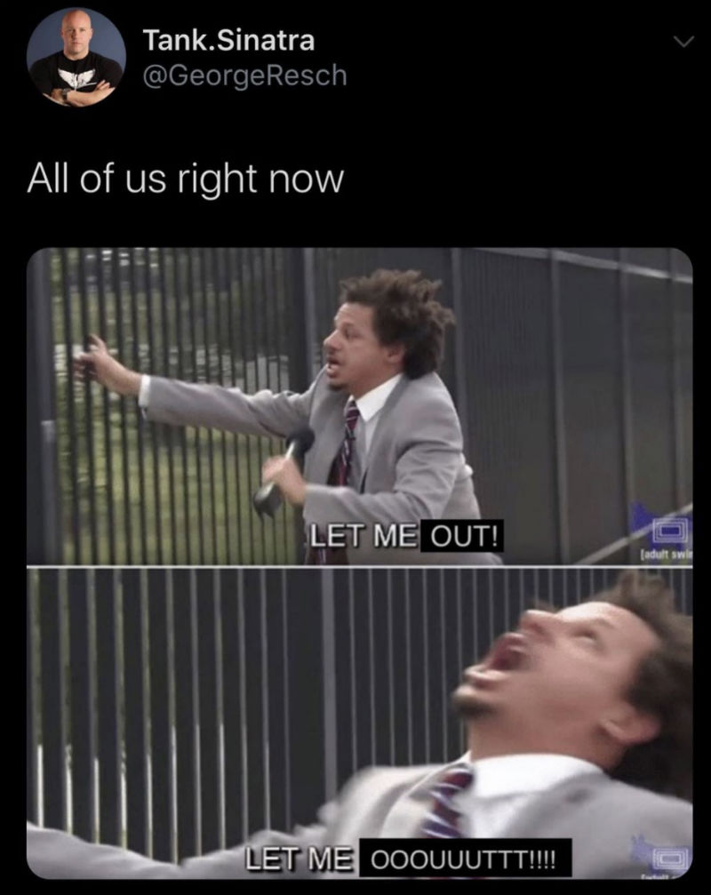 All Of Us Right Now Let Me Out Eric Andre Meme - Shut Up ...