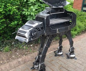 The AT-AT BBQ grill….The new must have for the Star Wars fanatic!!! Designed using original movie blue prints, the iconic AT-AT Walker has been transformed in to the ultimate BBQ! This metal beast