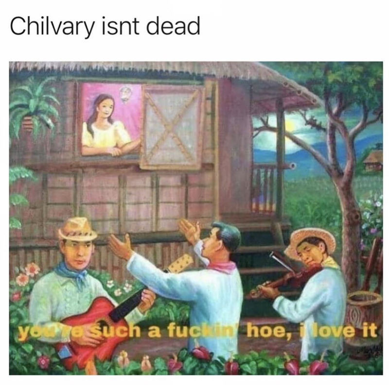 chivalry isnt dead you're a hoe