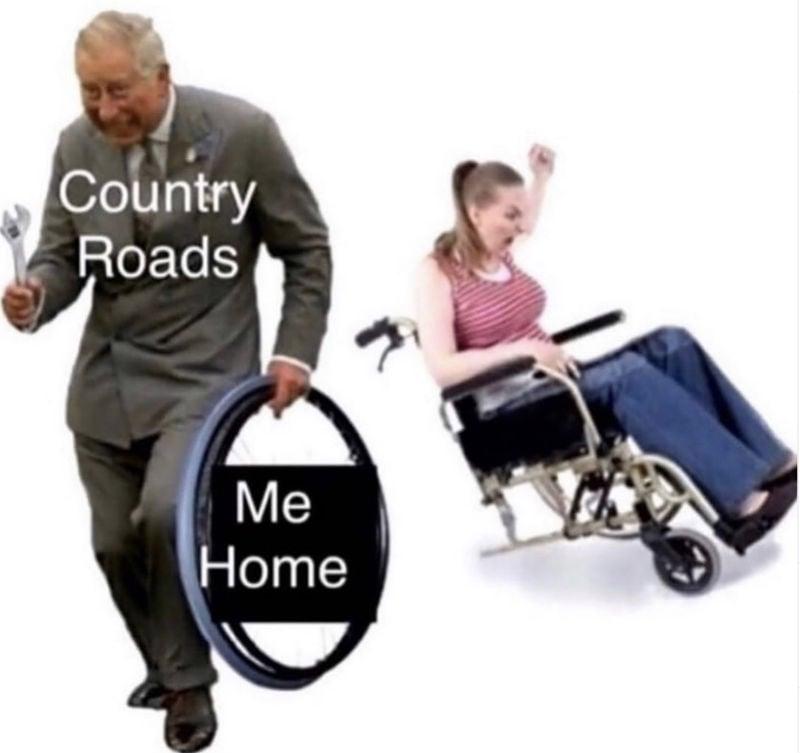 country road take me home meme