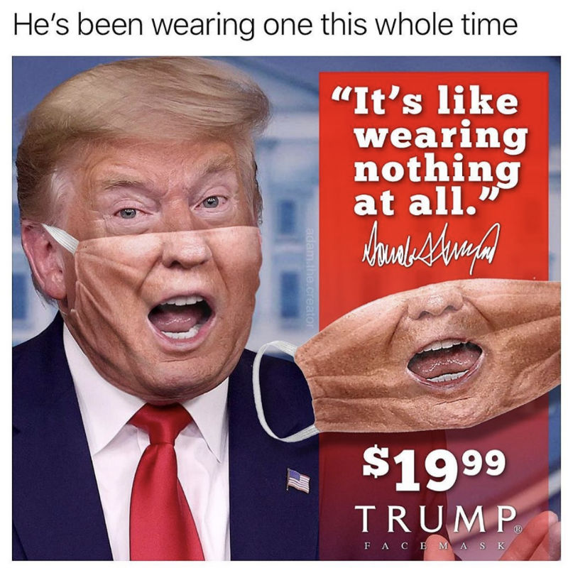 donald trump medical style face mask
