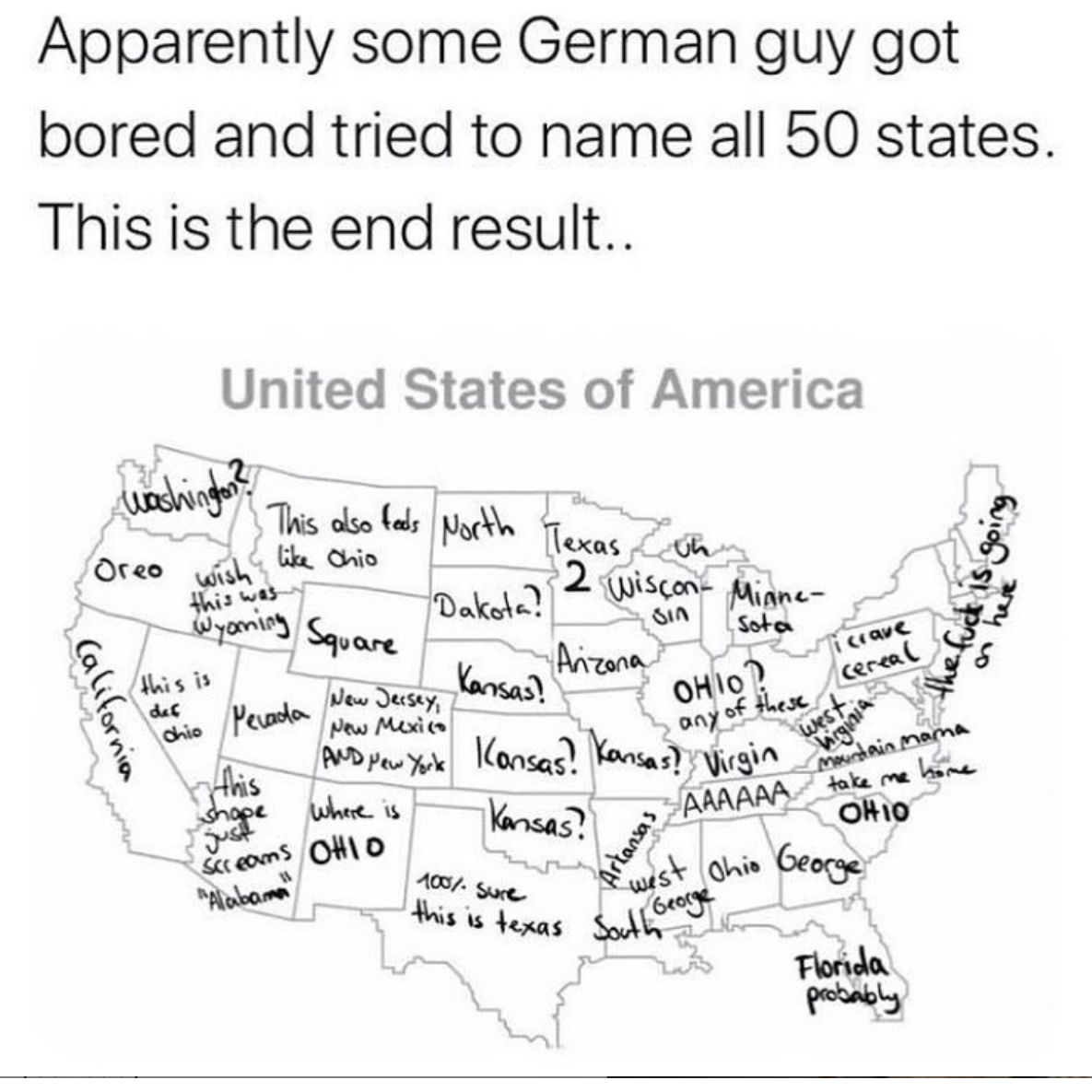 german guy tried to name all 50 states meme
