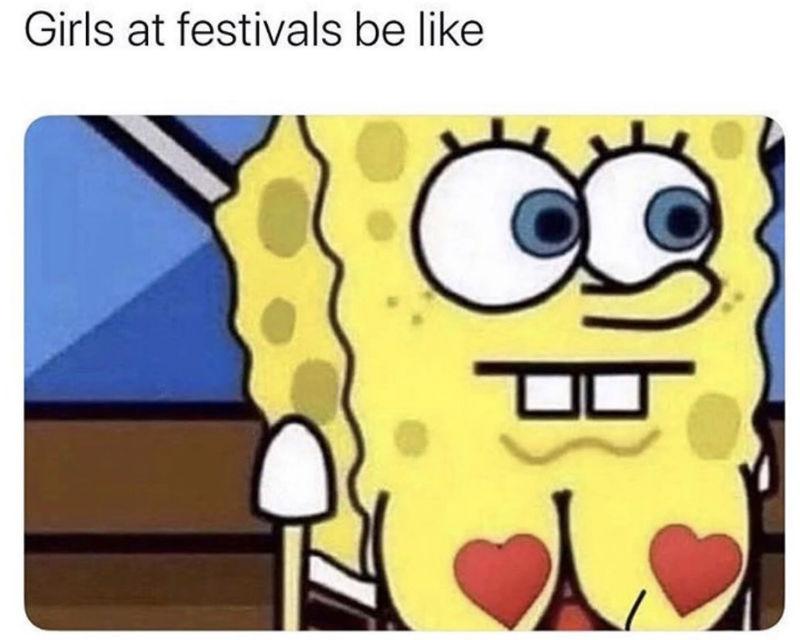 girls at festivals meme