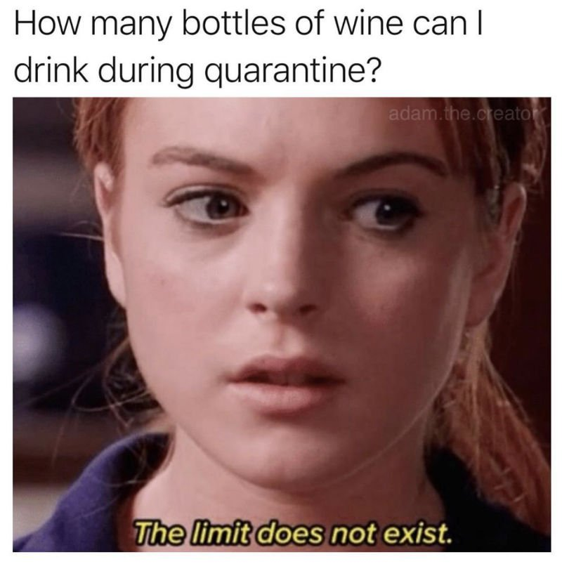 How Many Bottles Of Wine Can I Drink During Quarantine? - Meme - Shut Up  And Take My Money
