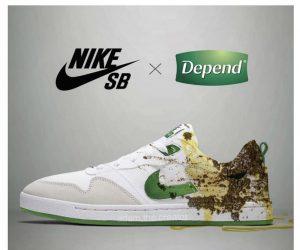 If 2020 was a shoe – Nike x Depends meme