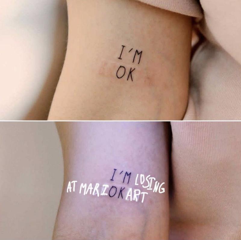 im ok im losing at mario kart tattoo