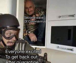 Second wave of coronavirus meme