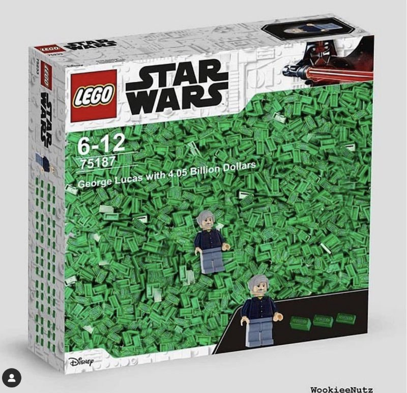 Star Wars Lego George Lucas With 4 Billon Dollars - Meme - Shut Up And Take  My Money