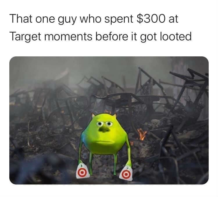 that one guy who spent 300 at target