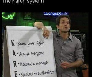 The Karen System – Dennis It's Always Sunny Meme