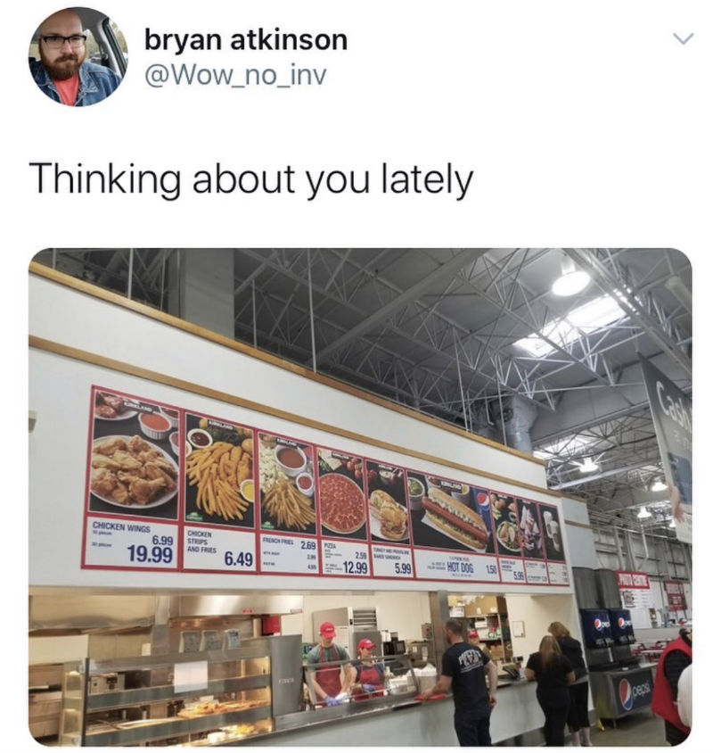 thinking about you lately costco meme