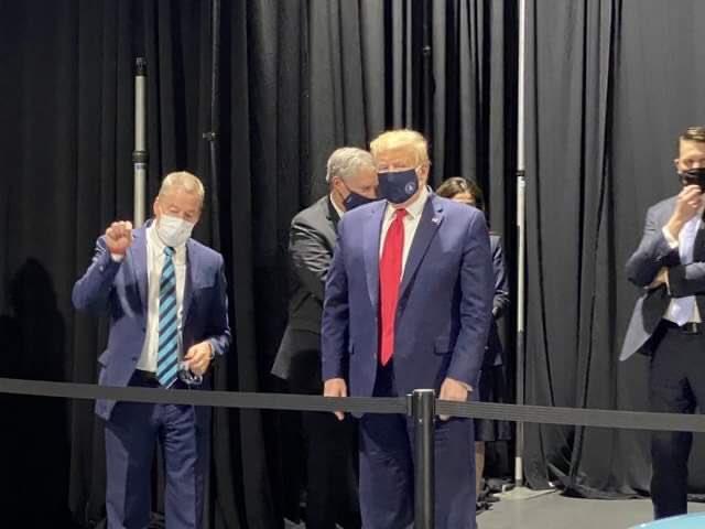 trump wearing a face mask meme