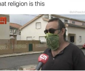 What Religion Is This Lettuce Face Mask – Meme