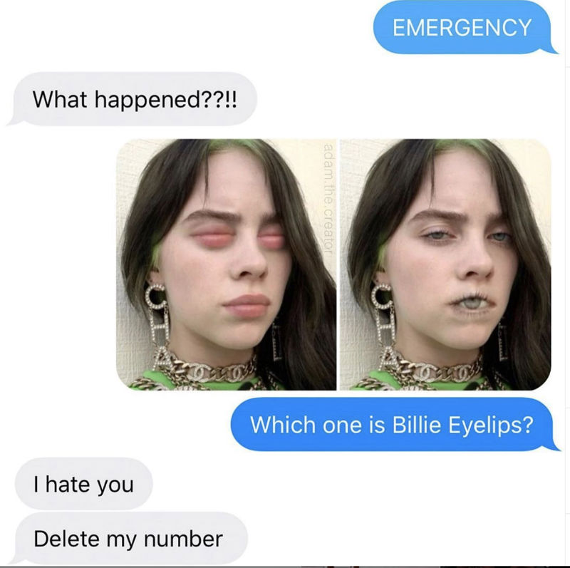 which one is billie eyelips meme