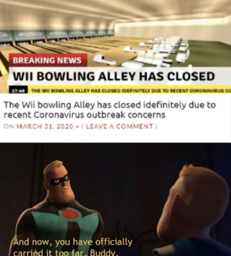 wii bowling alley closed