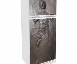 Han Solo In Carbonite Refrigerator Wrap – Perfect Fridge Wrap for Star Wars fans!