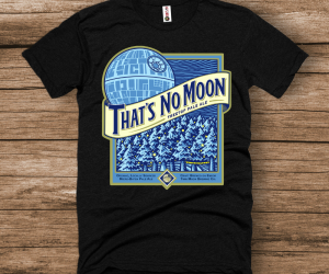That's No Moon Star Wars Blue Moon Parody Tee