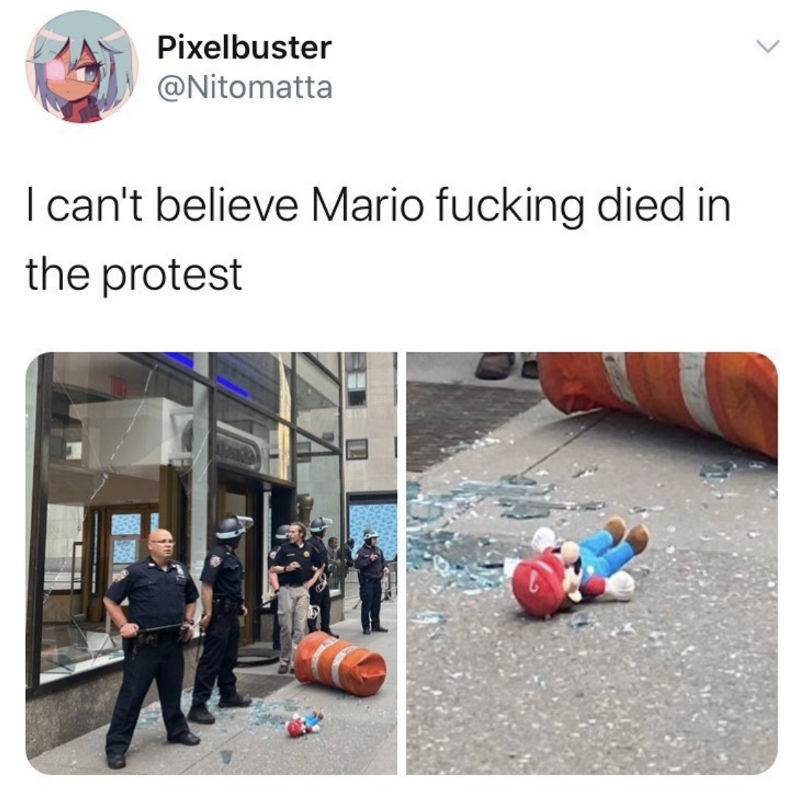 i can't believe mario died