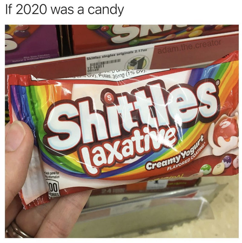 if 2020 was a candy meme
