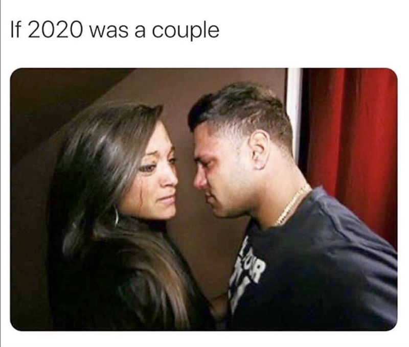 if 2020 was a couple meme