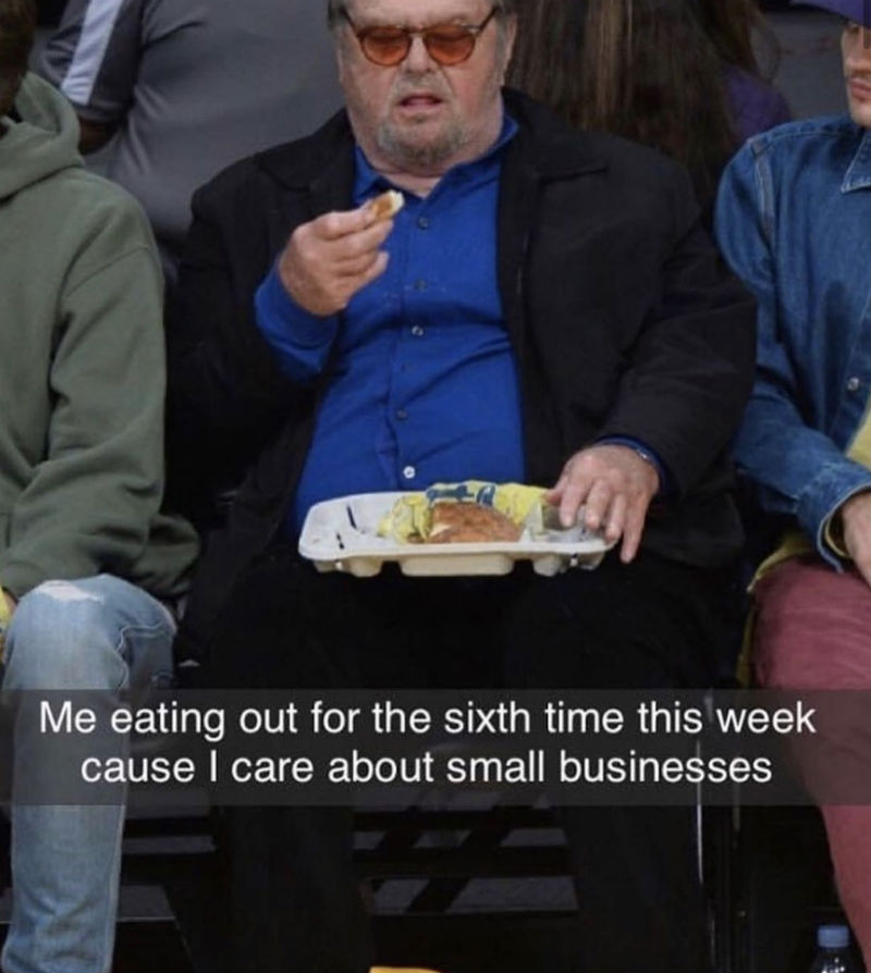 me eating out for the sixth time