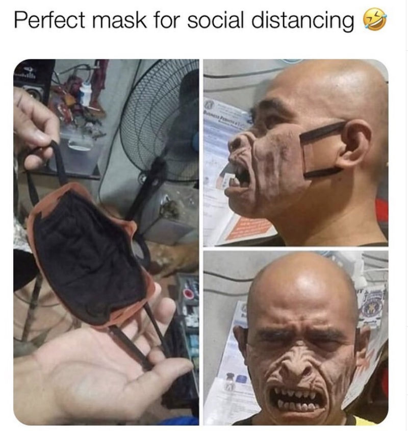 perfect mask for social distancing
