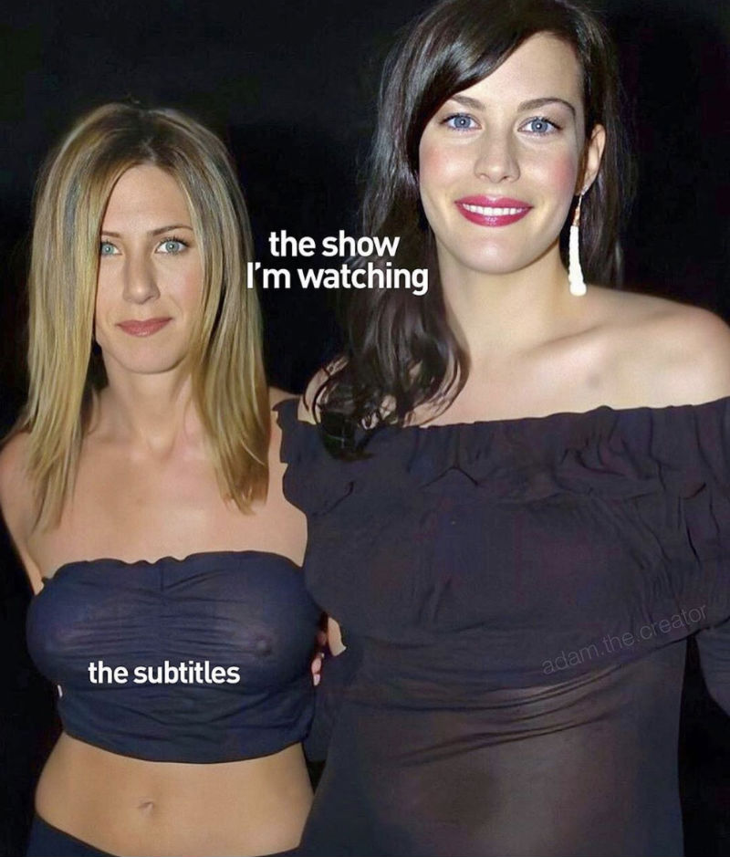 the show im watching vs the subtitles meme