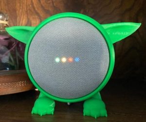 Google Home Mini Baby Yoda Stand – This stand transforms your hockey puck Google Home Mini into a stylish, statement piece. You can now make it look like everyone's favorite
