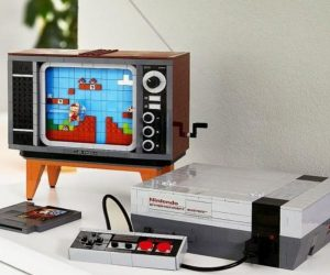 LEGO NES Console –Enjoy an original! With authentic reproductions of the original console, controller, and Game Pak cartridge, puls a retro-styled 1980s TV, the exlsuive new LEGO Nintendo Entertainment System™