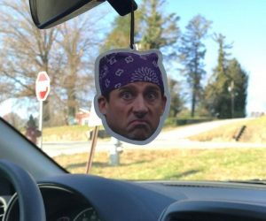 Prison Mike Inspired Air Freshener – Show your love for the most memorable Michael Scott character, Prison Mike!