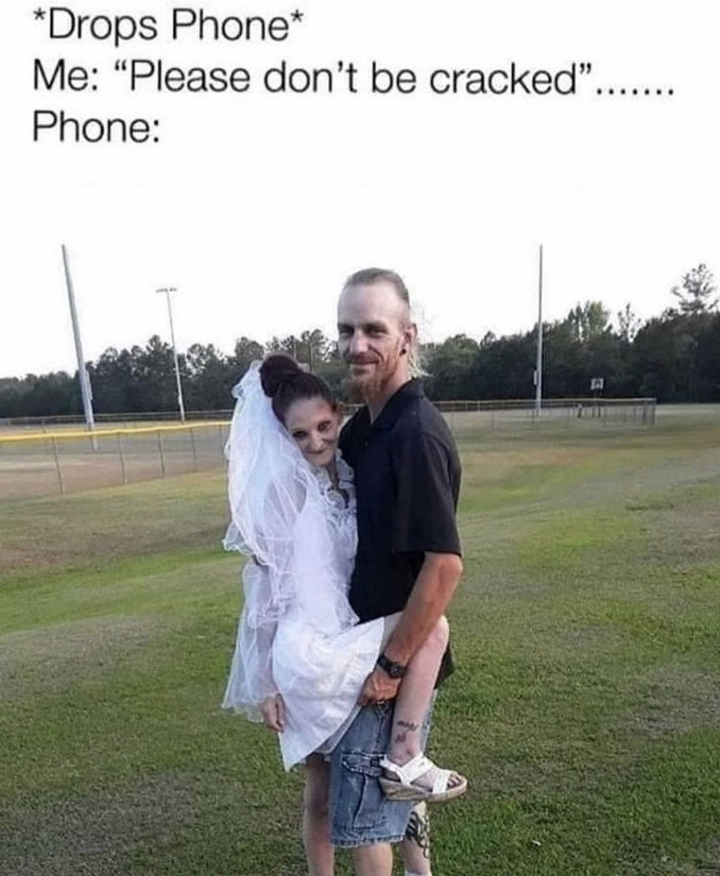 drops phone please dont be cracked