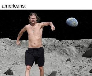 Health Experts Please Wear Protective Suits In Space – Americans Meme