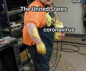 The United States Coronavirus Pretty Much Everyone Else – Meme