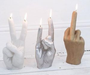 Hand Gesture Candle – One f*cking gesture to express it all – your mood, your opinion or even your view of life!
