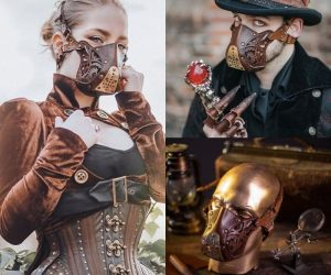 Steam Punk Leather Face Mask – Futuristic yet retro kind of mask to make your ordinary face mask look cooler!