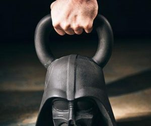 Star Wars Kettlebells – A bounty hunter, an Imperial Stormtrooper, and the Dark Lord of the Sith himself, these three loathsome figures have been meticulously sculpted and cast in dark