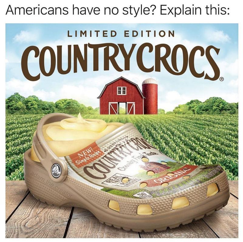country crocs meme