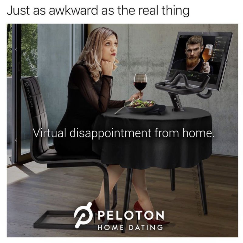 peloton home dating meme