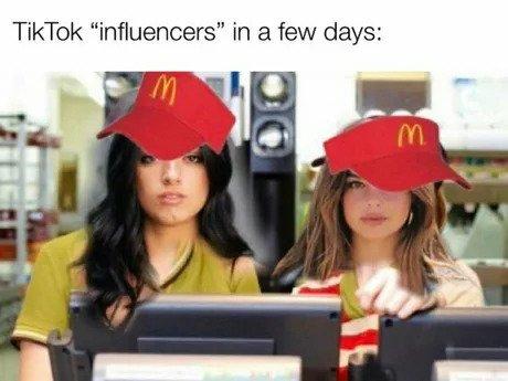tiktok influencers in a few days meme